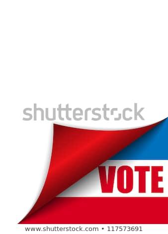 Szavazás Egyesült Államok Amerika oldal sarok vektor Stock fotó © gubh83