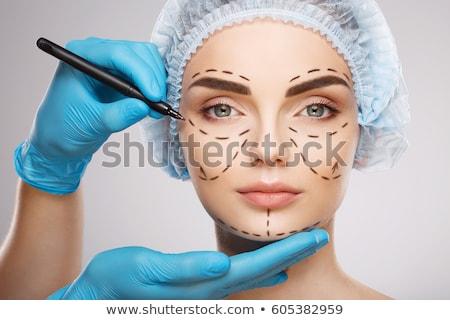 mulher · injeção · sobrancelha · tratamento · cara · elevador - foto stock © lightsource