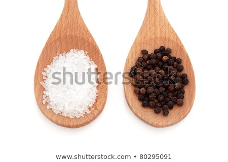 Coarse Salt in Wooden Spoon  Stock photo © tab62