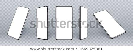 аннотация черно белые Мобильные телефоны шаблон белый черный Сток-фото © orson