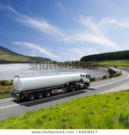 Heavy liquid transportation truck lorry on a road  Stock photo © lunamarina