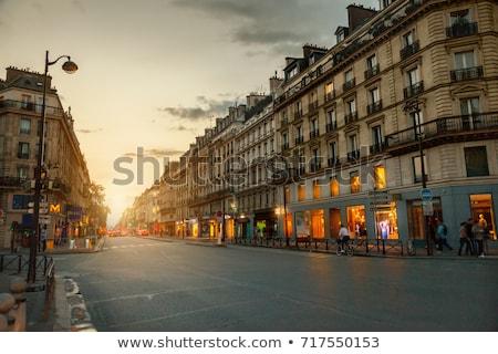 Párizsi Franciaország ősz napos idő égbolt épület Stock fotó © neirfy