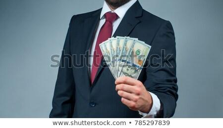 feminino · mão · dinheiro · dólares · isolado - foto stock © lunamarina
