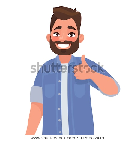 casual man shows thumbs up stock photo © feedough