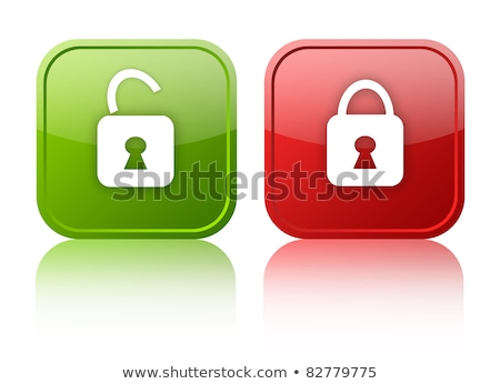 protect red padlock web icon on background Stock photo © fotoscool