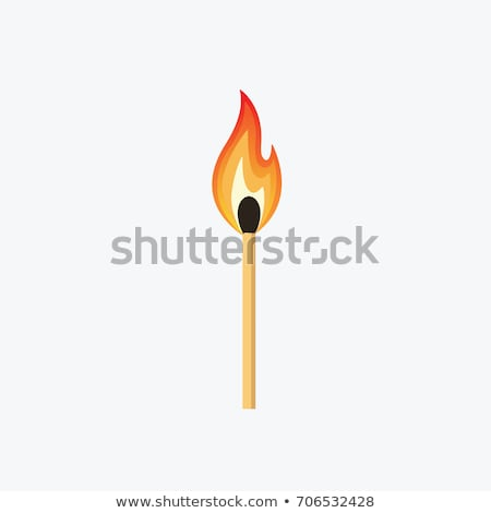 vector burning match stock photo © x-etra