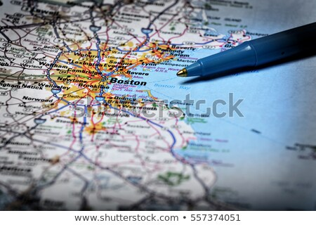 road map and ballpoint pen stock photo © tainasohlman