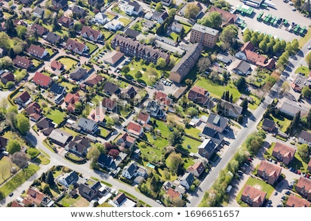 aerial view of residential area stock photo © kirill_m