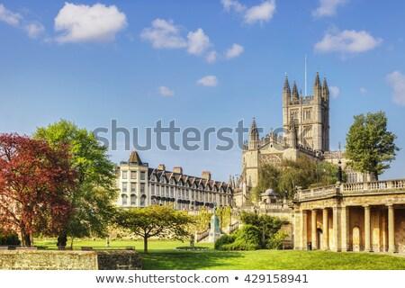 Banho abadia interior histórico arquitetura gótico Foto stock © chrisdorney