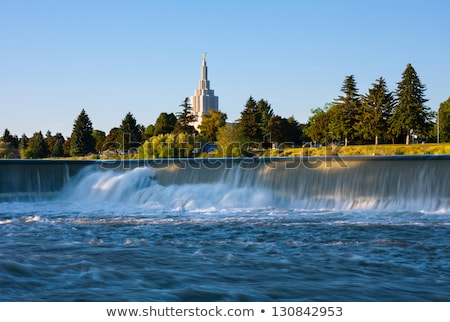 Mormon Temple at Idaho Falls Stock photo © pngstudio