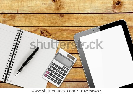 open business diary with pen and calculator stock photo © mizar_21984