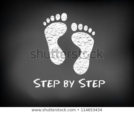 lépés · kréta · illusztráció · személy · rajz · mutat - stock fotó © kbuntu