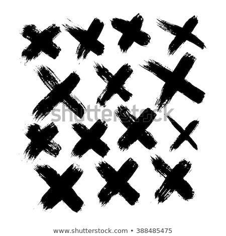 набор 14 крест векторы простой Сток-фото © fiftyfootelvis
