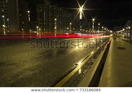 Kép Los Angeles naplemente csúcsforgalom autók éjszaka Stock fotó © tobkatrina