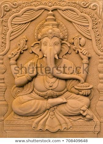 Indian elefante dio design mouse arte Foto d'archivio © vectorpro