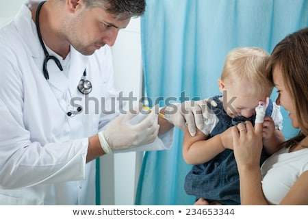 child vaccination pediatrician apply injection stock photo © candyboxphoto
