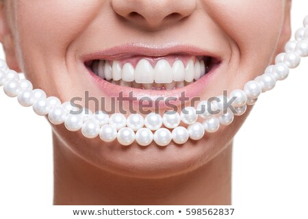 Smiling Young Woman With Pearl White Teeth Stok fotoğraf © Svetography