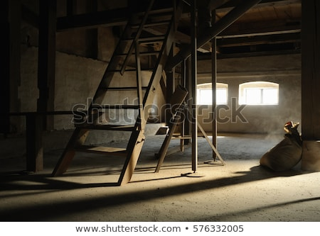 wooden mill inside Stock photo © Kayco