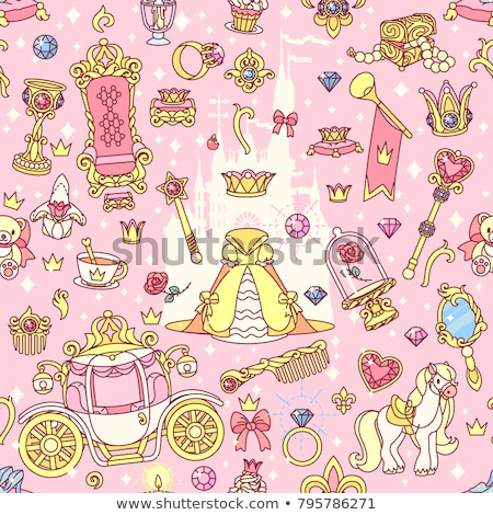 beautiful little princess cinderella vector illustration stock photo © carodi
