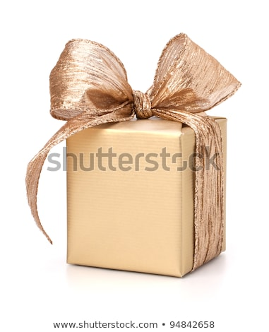 Festive gift box and wrapping ribbons isolated on white backgrou Stock photo © natika