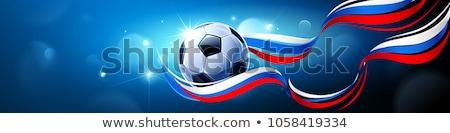 Futbol afiş futbol dizayn takım top Stok fotoğraf © rioillustrator