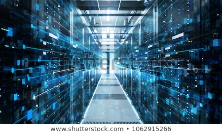 Veri merkezi Internet teknoloji ağ mavi Stok fotoğraf © kubais