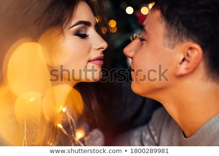 Fickó karácsony csók izgató visel alsónemű Stock fotó © lisafx