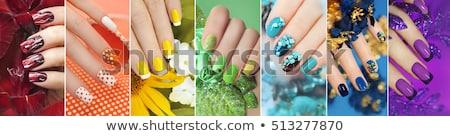 feminino · mãos · prego · artes · menina - foto stock © nobilior