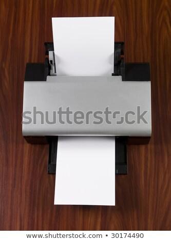Stampante bianco giornali rovere Foto d'archivio © gemenacom
