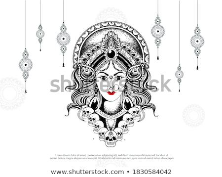 abstract artistic durga background stock photo © pathakdesigner