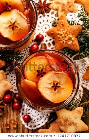 kurutulmuş · meyve · cam · kırmızı · sonbahar · soğuk - stok fotoğraf © peredniankina