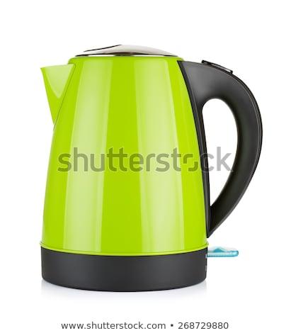 Green kettle isolated Stock photo © michaklootwijk