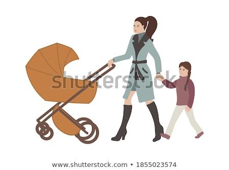 mulher · praça · andar · mulheres · mãe · feminino - foto stock © vg