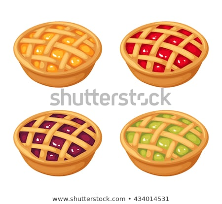 torta · torta · de · maçã · torta · de · cereja · maçã - foto stock © brittenham