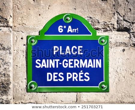 Párizs · jelzőtábla · híres · zeneszerző · zene · felirat - stock fotó © dutourdumonde