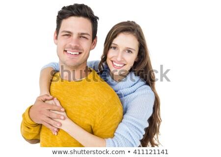 Portrait of the calm young couple Stock photo © konradbak