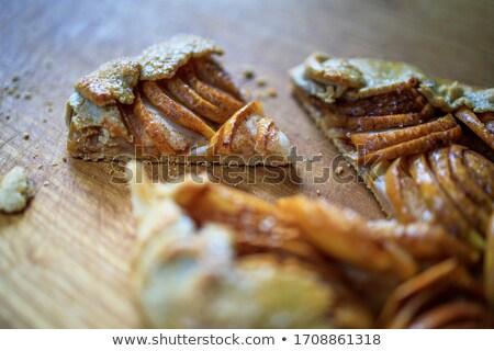 hot · appel · rabarber · vla · voedsel · plaat - stockfoto © vankad