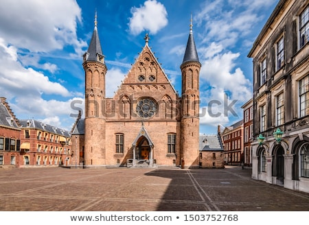 Готский фасад Нидерланды город башни скамейке Сток-фото © michaklootwijk