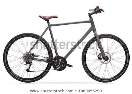 Nieuwe fiets geïsoleerd witte fitness metaal Stockfoto © ozaiachin