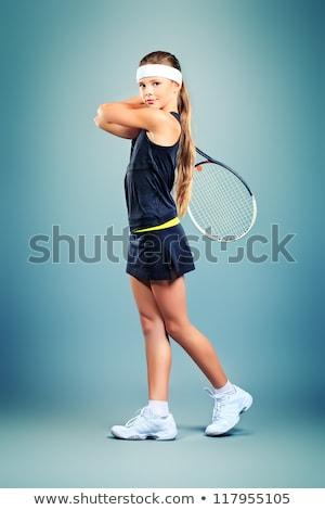 Girl with racquet Stock photo © pressmaster