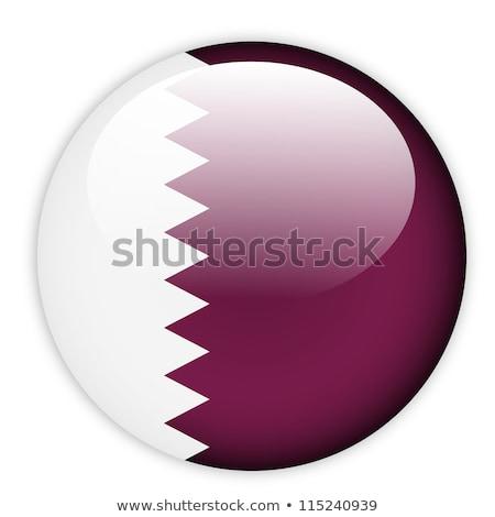 Ikon bayrak Katar yalıtılmış beyaz seyahat Stok fotoğraf © MikhailMishchenko