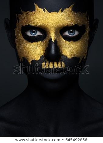 Portré káprázatos női festett arany szépség Stock fotó © gromovataya