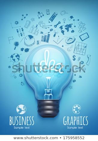 Fikir düzen beyin fırtınası grafikler Stok fotoğraf © DavidArts