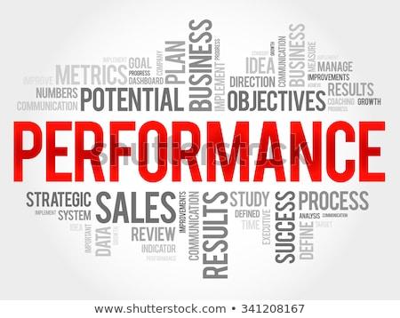 Estrategia de negocios nube de palabras comercialización gestión plan visión Foto stock © tang90246