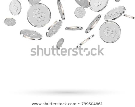 Dollar argent pièce indian profile affaires Photo stock © Relu1907