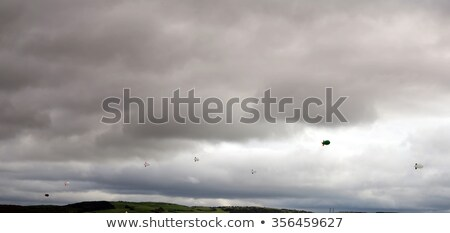 clouds full of blank air blimps Stock photo © morrbyte