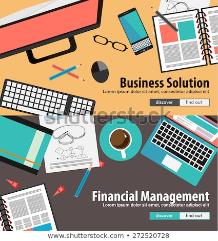 flat style concepts for resources division and process optimiziation stock photo © davidarts
