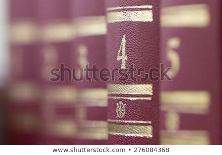 図書 立って 浅い フィールド シェルフ ストックフォト © Valeriy