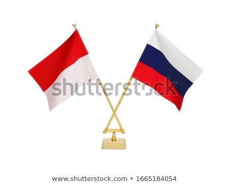 russia and indonesia   miniature flags stock photo © tashatuvango
