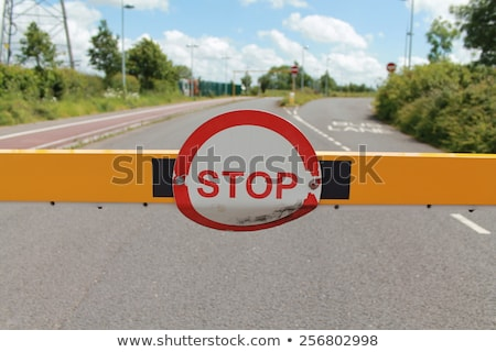 Vandalism on Warning Road Sign. Stock photo © tashatuvango